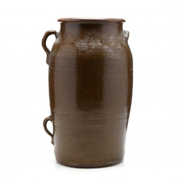 western-nc-pottery-butter-churn
