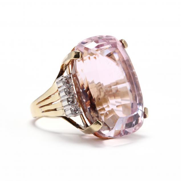 14kt-gold-kunzite-and-diamond-ring