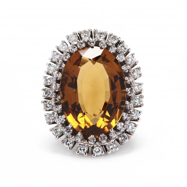14kt-white-gold-citrine-and-diamond-ring