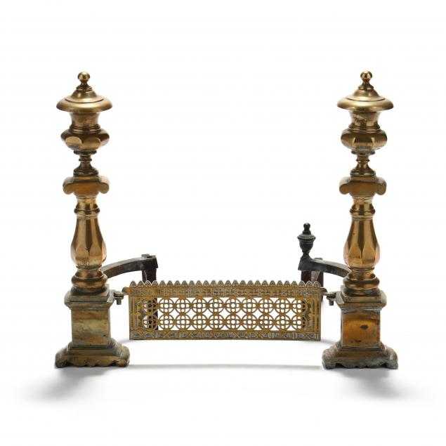 pair-of-southern-federal-brass-and-cast-andirons