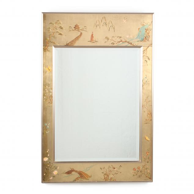 labarge-chinoiserie-decorated-mirror