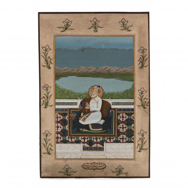 an-indian-miniature-painting-of-a-mughal-ruler