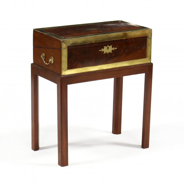 antique-campaign-style-lap-desk-on-stand
