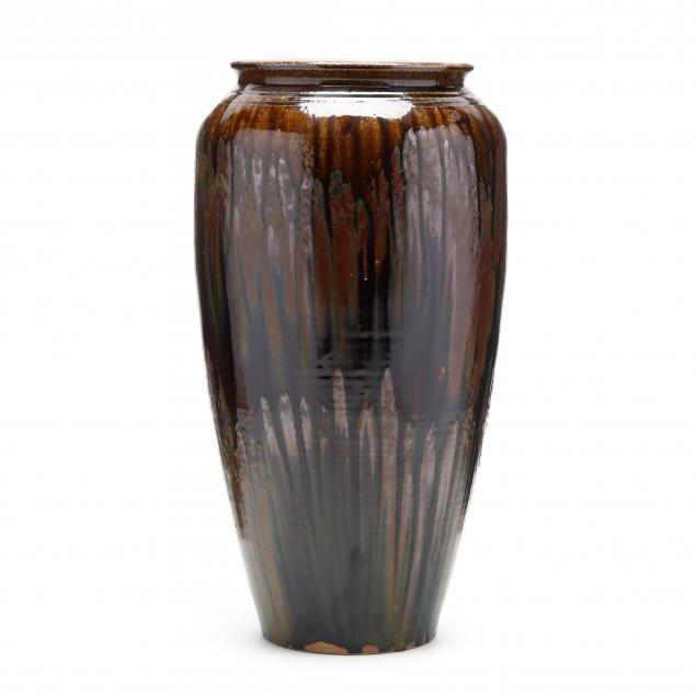 western-nc-kim-ellington-tall-alkaline-glazed-vase