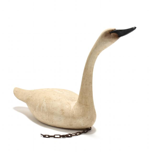 vintage-carved-and-painted-swan-decoy