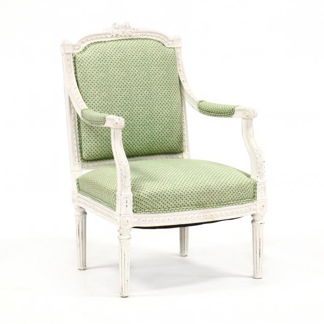 lois-xvi-style-carved-and-painted-fauteuil
