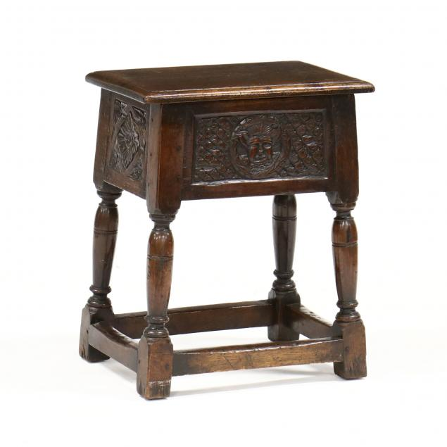 william-and-mary-style-carved-oak-storage-table