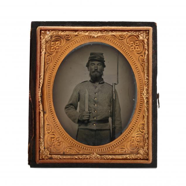 double-armed-north-carolina-confederate-soldier-in-sixth-plate-ambrotype