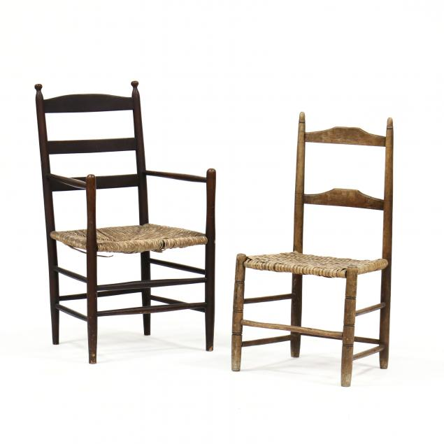 two-antique-ladderback-chairs