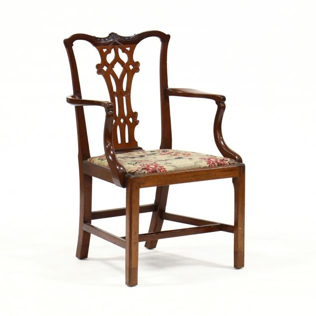 chippendale-carved-mahogany-armchair