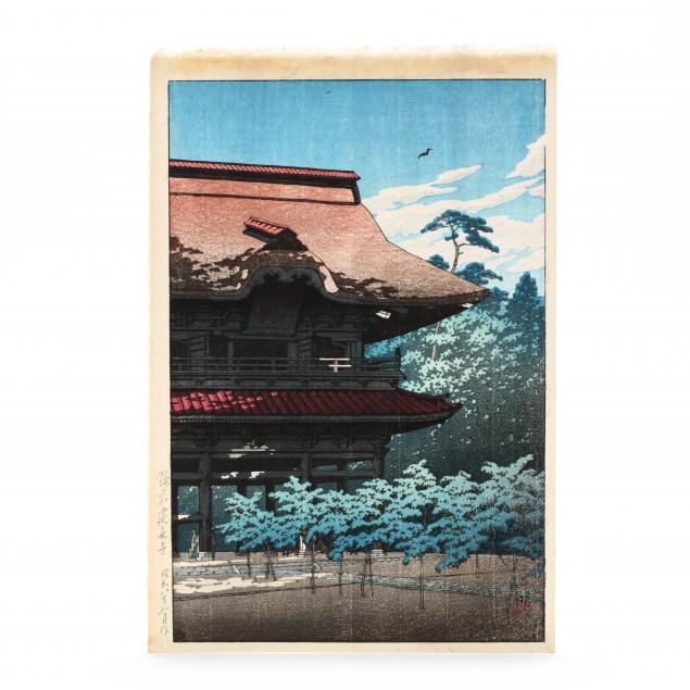 hasui-kawase-japanese-1883-1957-i-kencho-temple-kamakura-i