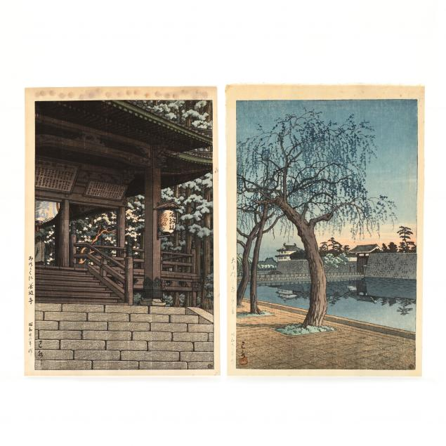 hasui-kawase-japanese-1883-1957-two-woodblock-prints