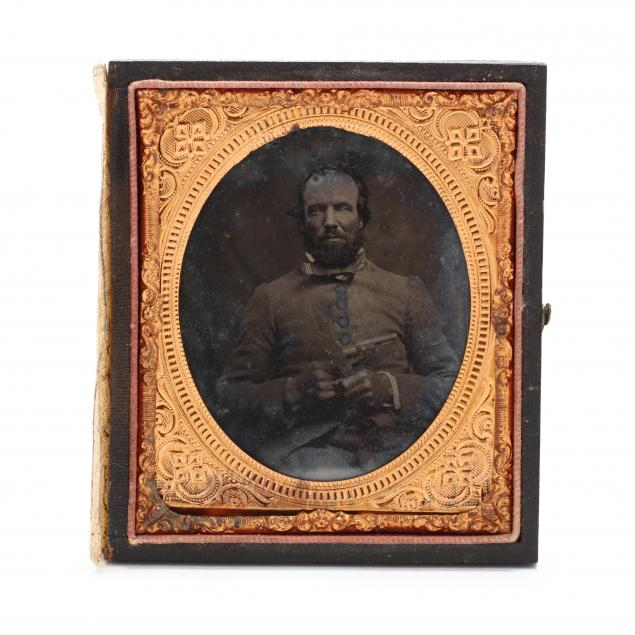 north-carolina-double-armed-confederate-soldier-in-sixth-plate-ambrotype
