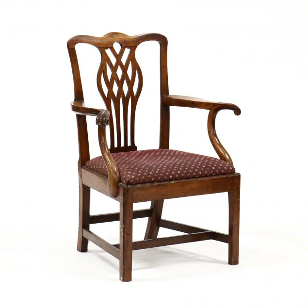 english-chippendale-carved-armchair