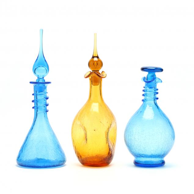 three-crackle-glass-decanters
