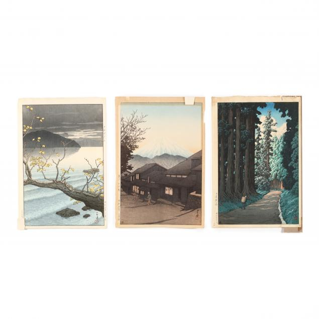 hasui-kawase-japanese-1883-1957-three-woodblock-prints