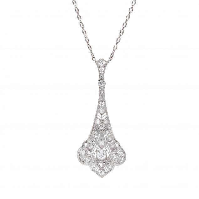 edwardian-platinum-and-diamond-lavalier-necklace