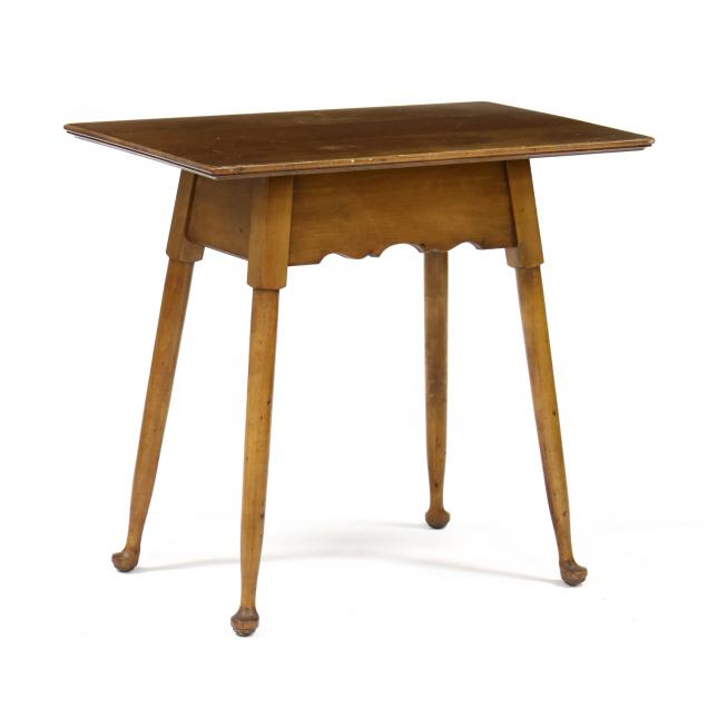 stickley-queen-anne-style-cherry-side-table