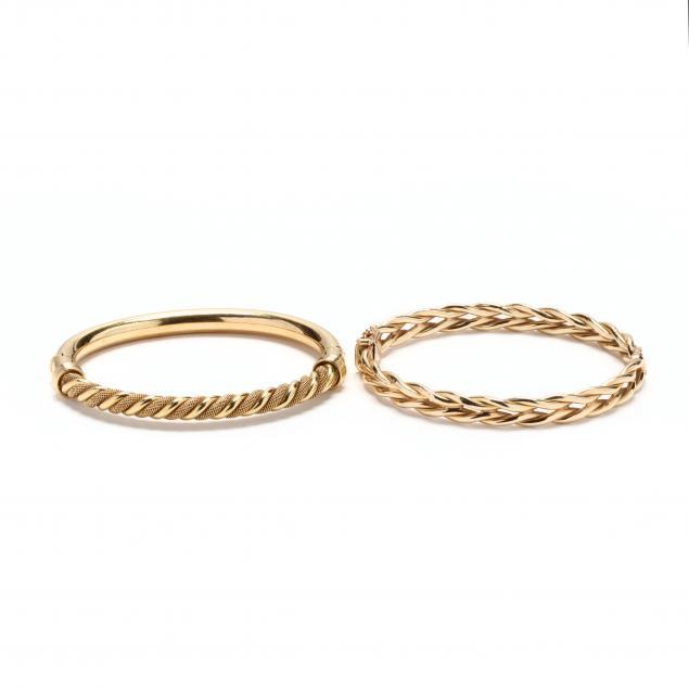 two-gold-bracelets