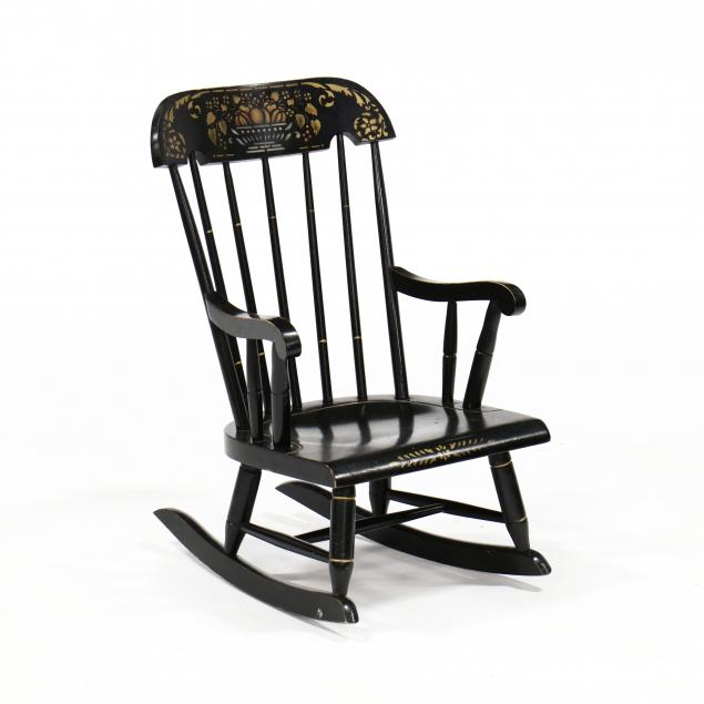 nichols-stone-child-s-stencil-decorated-rocking-chair