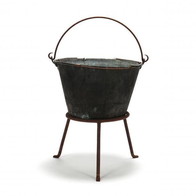 antique-copper-cauldron-on-stand