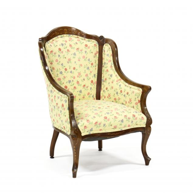 edwardian-inlaid-mahogany-library-chair