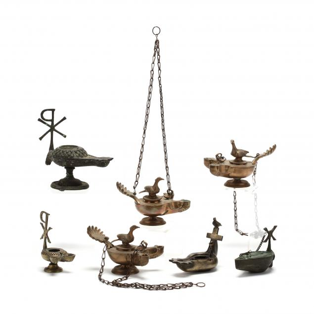 seven-brass-lamps-after-roman-and-byzantine-types