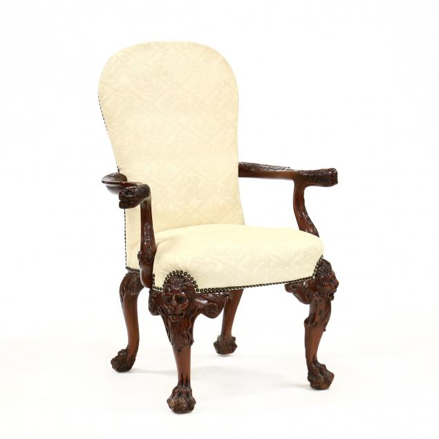 maitland-smith-georgian-style-carved-mahogany-armchair