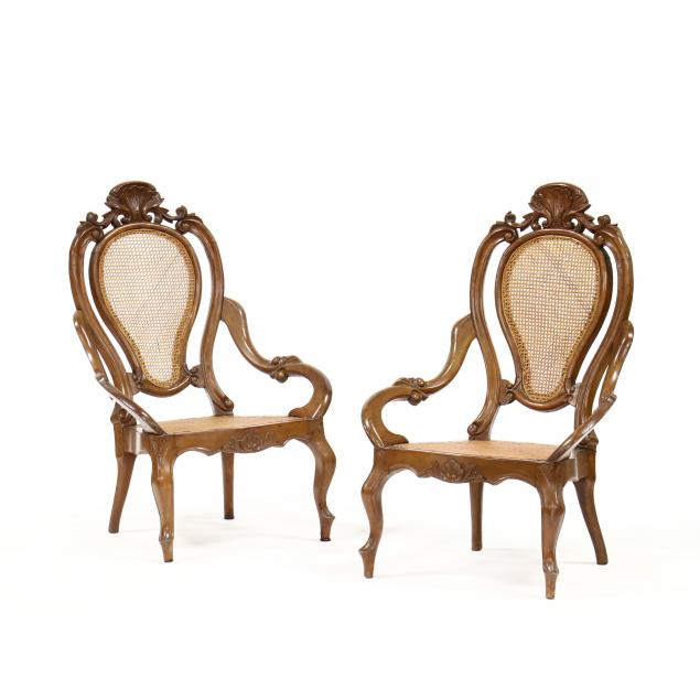 pair-of-american-rococo-carved-walnut-chairs