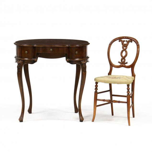 vintage-italian-kidney-shaped-writing-desk-and-chair
