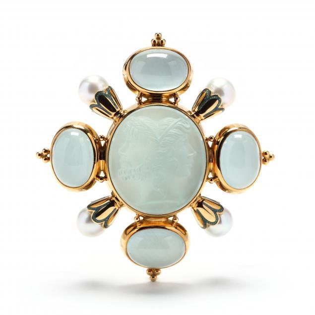 18kt-gold-aquamarine-and-pearl-brooch-elizabeth-gage