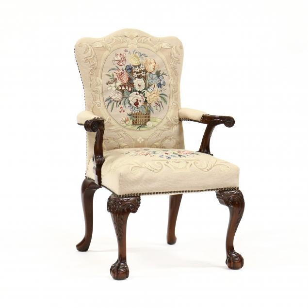 maitland-smith-chippendale-style-mahogany-armchair
