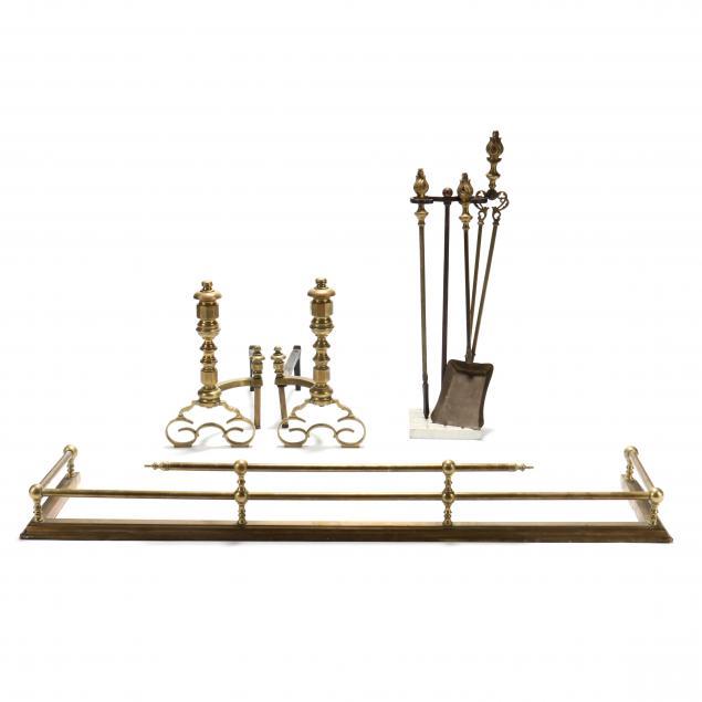 vintage-assembled-fireplace-set