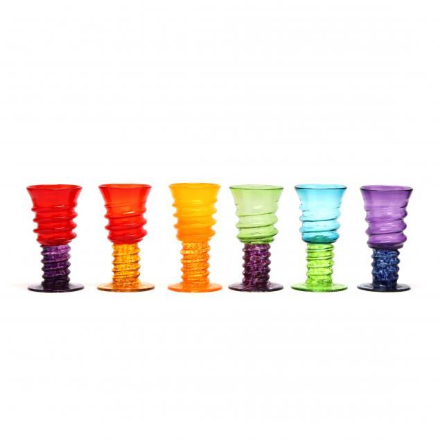 rossi-thomas-six-spiral-art-glass-goblets