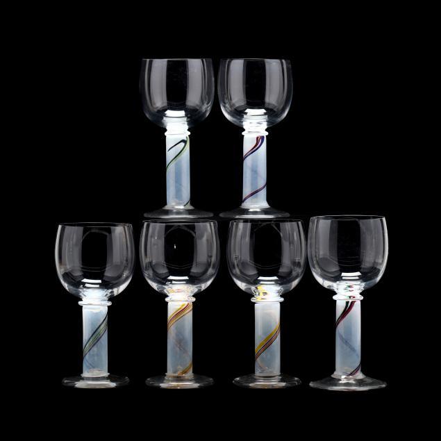 ulrica-hydman-vallien-sweden-1938-2018-six-goblets-for-kosta-boda