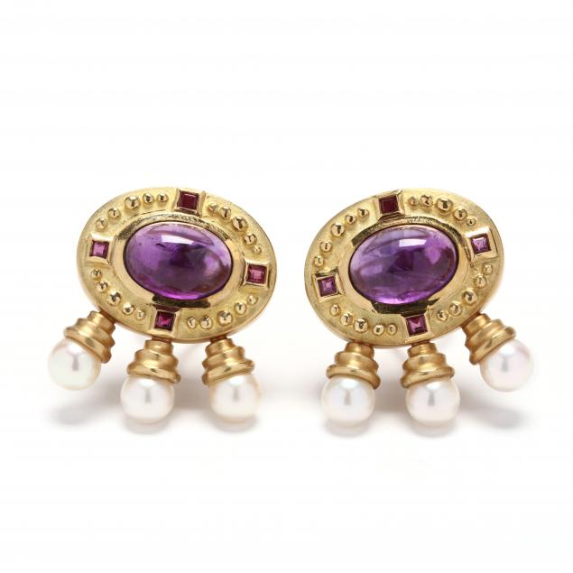 18kt-gold-amethyst-and-pearl-athena-earrings-seidengang