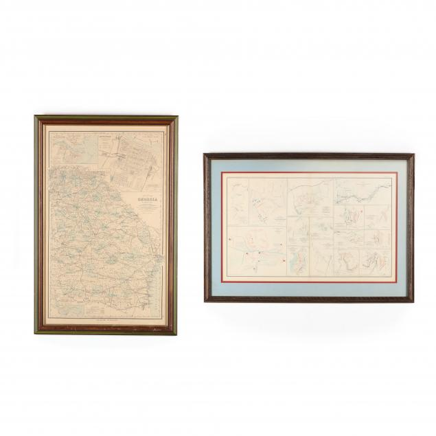 two-large-19th-century-framed-maps-pertaining-to-georgia