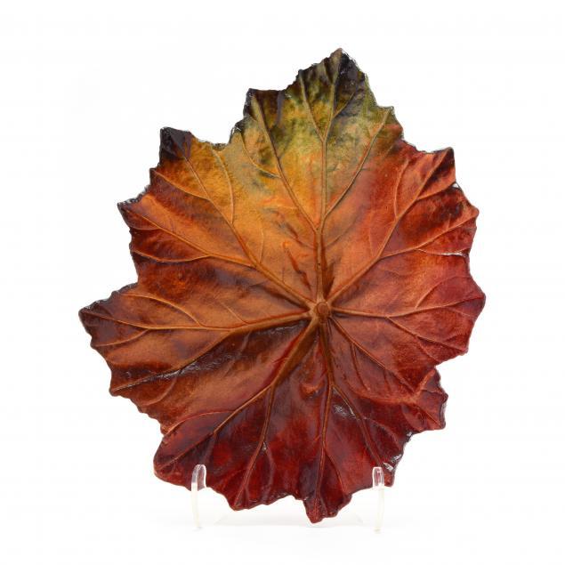 john-wayne-jackson-nc-art-pottery-leaf