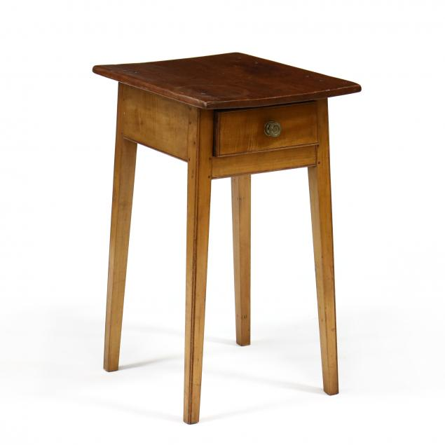 new-england-federal-splayed-leg-one-drawer-side-table