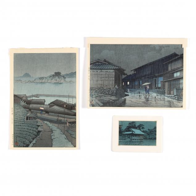 hasui-kawase-japanese-1883-1957-three-woodblock-prints