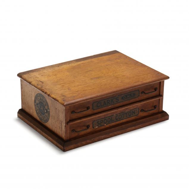 clark-s-two-drawer-oak-spool-cabinet