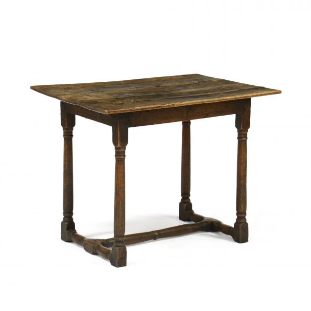 english-william-and-mary-oak-stretcher-base-tavern-table
