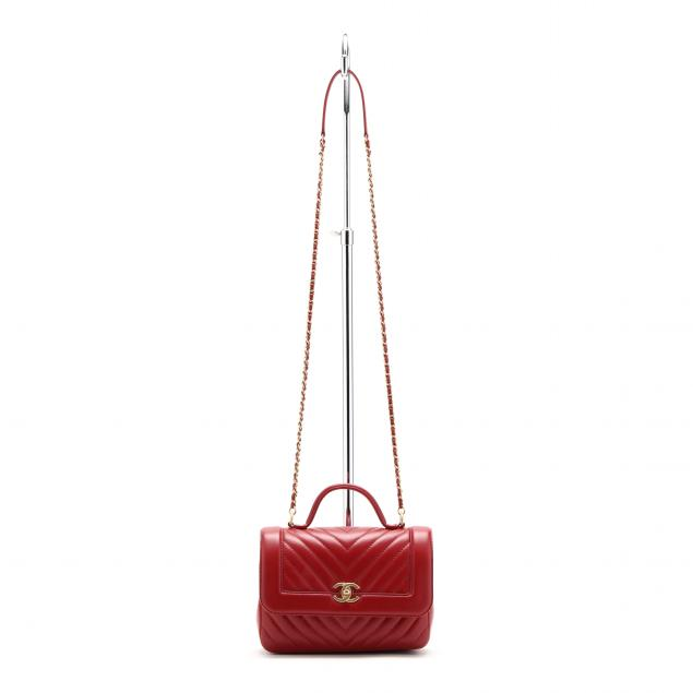 chevron-stitched-red-lambskin-flap-bag-chanel