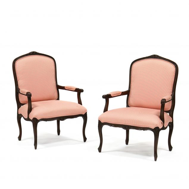 pair-of-louis-xv-style-carved-and-upholstered-armchairs