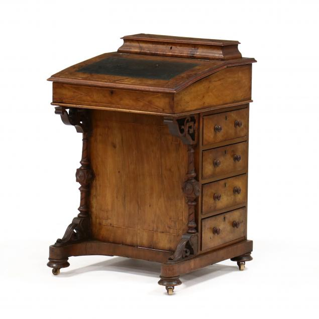 antique-english-inlaid-burlwood-davenport-desk