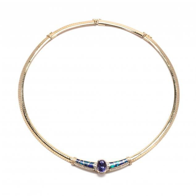 14kt-gold-tazanite-opal-and-diamond-necklace