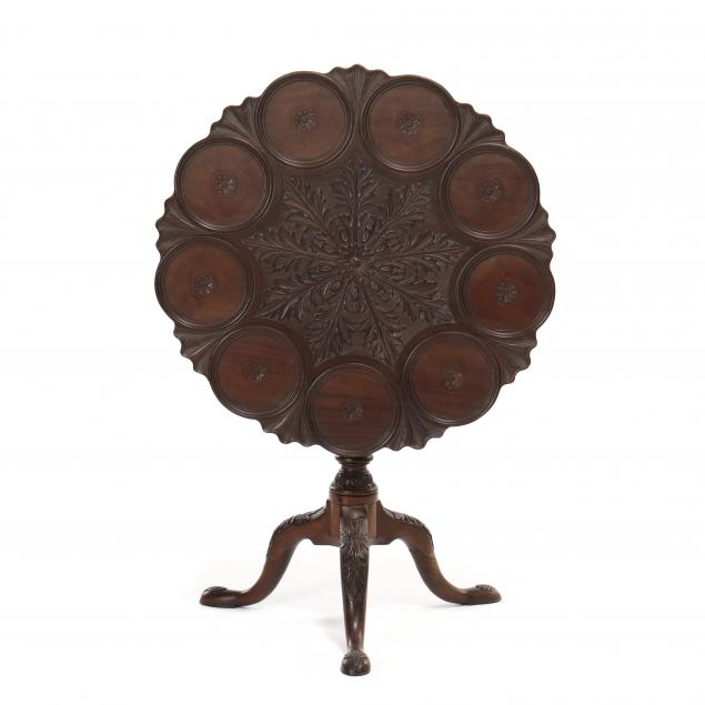 antique-irish-chippendale-style-carved-mahogany-tilt-top-supper-table