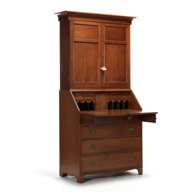 north-carolina-federal-walnut-desk-and-bookcase