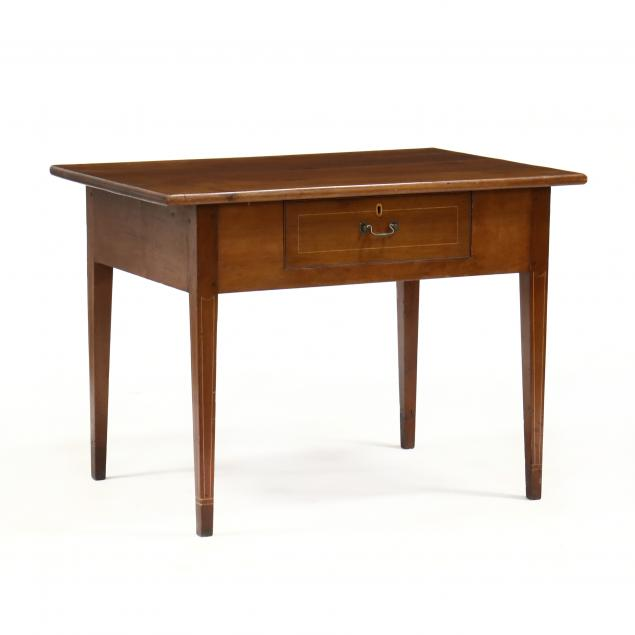 north-carolina-federal-cherry-inlaid-one-drawer-writing-table