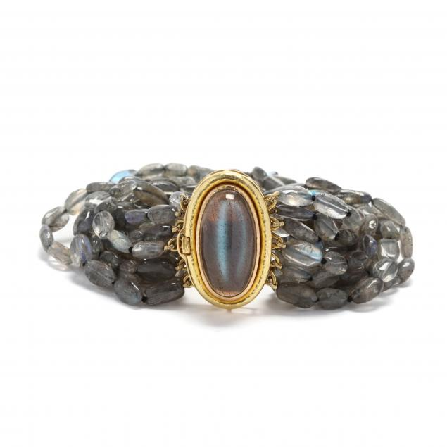 19kt-gold-and-multi-strand-labradorite-bracelet-elizabeth-locke